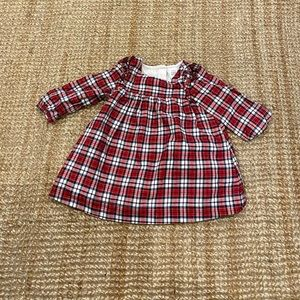 Gap plaid red navy dress
